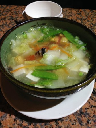 TOP THAI: Very good portion for sharing of the vegetable tofu soup