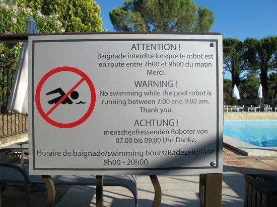 BEST WESTERN Sévan Parc Hotel : Achtung!