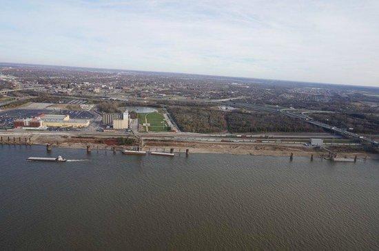 The Gateway Arch: Die Aussicht auf St. Louis von oben