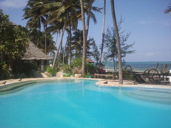 Palm Beach Inn : beautiful swimmingpool facing the ocean