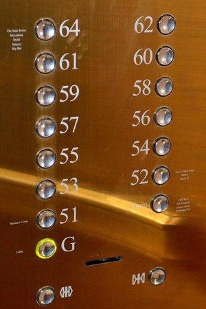 lebua at State Tower: L'ascenseur