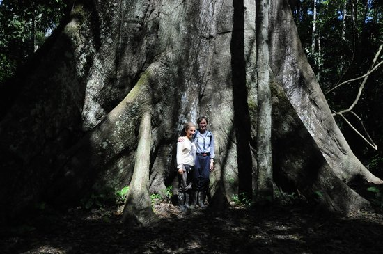 Posada Amazonas: My bride with our lovely guide at the 'Big Tree