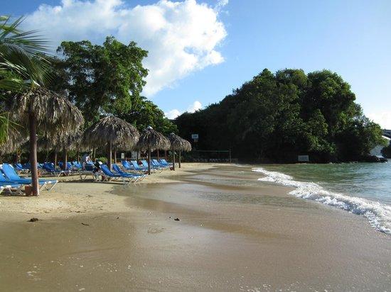 Grand Bahia Principe Cayacoa : Palapas à la plage