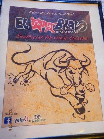El Toro Bravo: menu