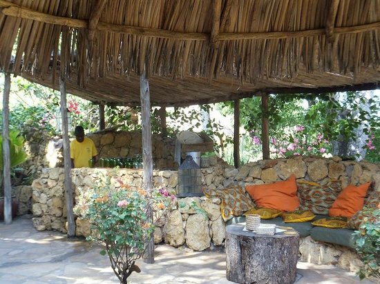 Capricorn Beach Cottages: the pizza garden