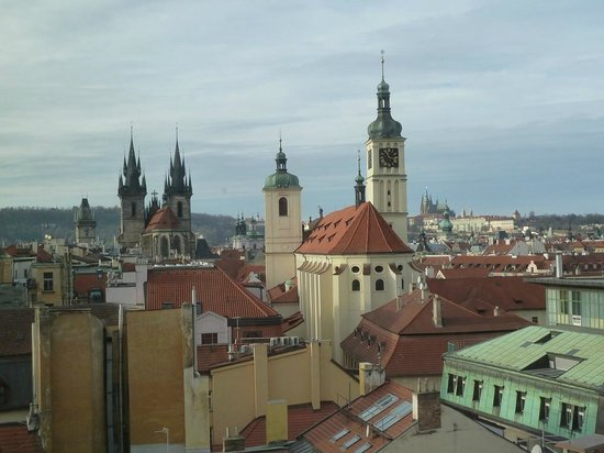 Hotel Paris Prague: Westward view of Old Town Prague from Hotel Paris room
