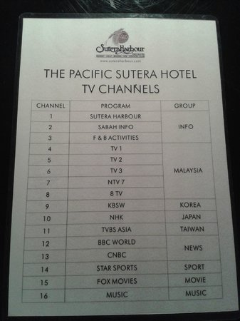 Sutera Harbour Resort (The Pacific Sutera & The Magellan Sutera): TV program