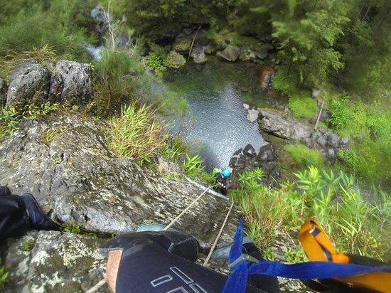 Cilaos, Reunion Island: Descente en rappel