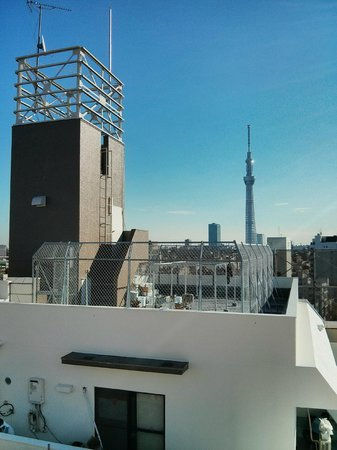 Juyoh Hotel: View from the 10th floor on Tokyo Skytree tower