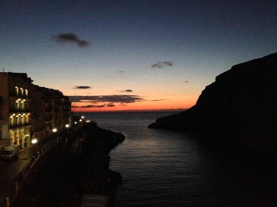 San Andrea Hotel: Sunset from the balcony