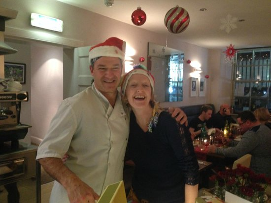 Cafe Cassis: Zoe with Denis - Our head chef and host