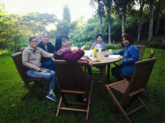 Angelfield's Hotel: while having our bible study.. very nice place