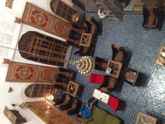 Riad Nassim : The hall seen from our room