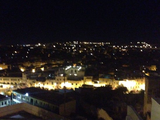 Riad Nassim : Night view from the roof terrace