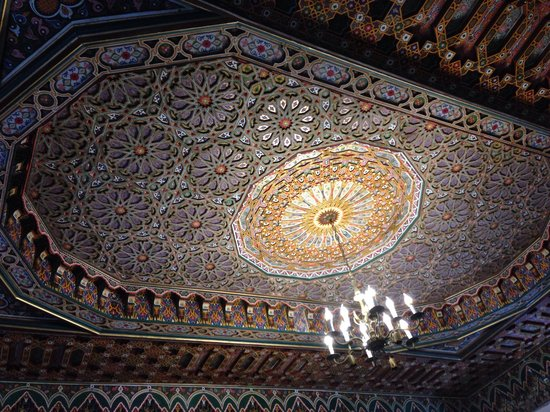 Restaurant dar hatim : Ceiling decor - made by Karima's brother in law