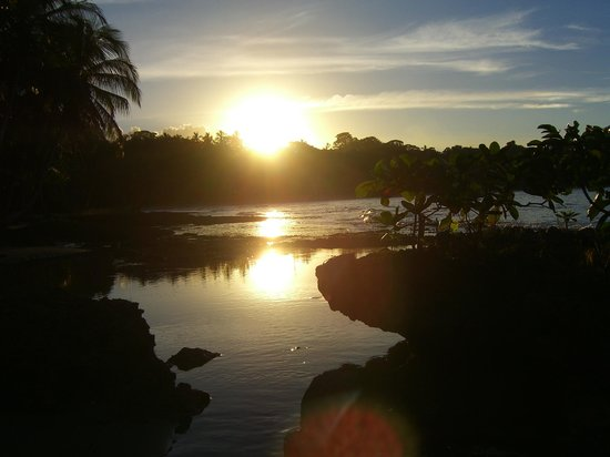 Physis Caribbean Bed & Breakfast : Sunset from the point near Playa Cocles.