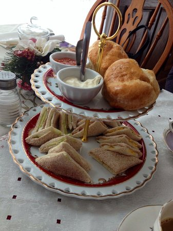 Queen Charlotte Tea Room : Vegetarian high tea sandwiches