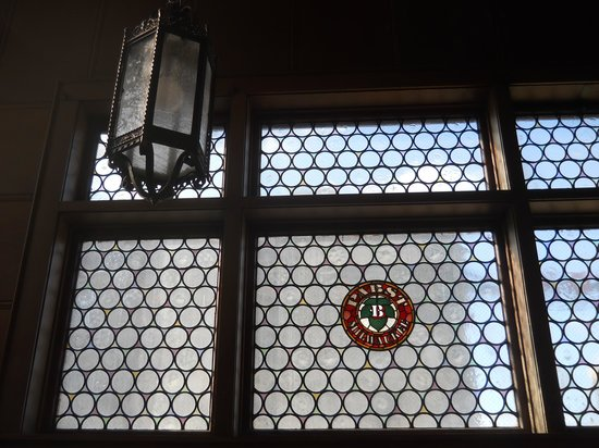 Best Place at the Historic Pabst Brewery : Window upstairs beautiful sconce