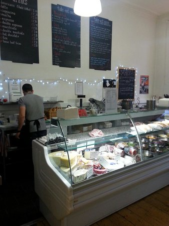 Broughton Delicatessen and Cafe: Fresh meats, cheese, scones and sweet treats also available