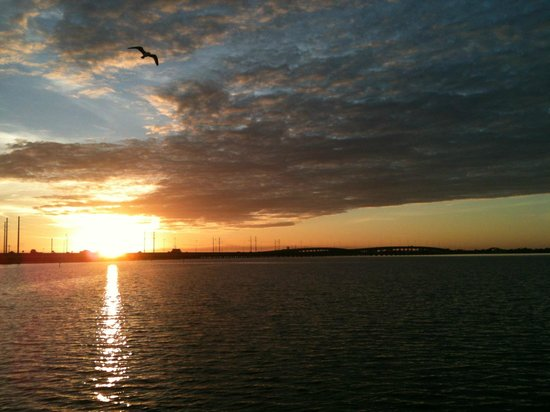 Banana Bay Waterfront Motel: Our SunRise! SunSets are just as Beautiful from the pier!