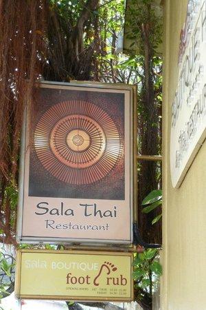 Sala Thai Restaurant: sign outside on the street