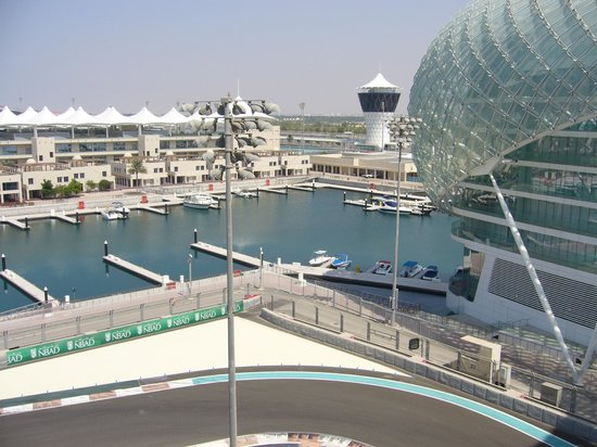Yas Viceroy Abu Dhabi: View from balcony (2)