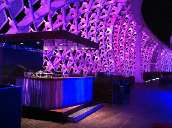 Yas Viceroy Abu Dhabi: DJ Booth at Skyline bar