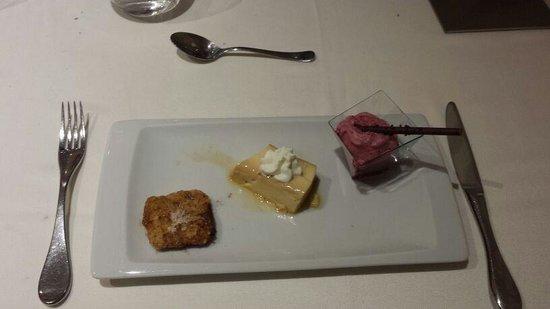 La Fragua - Alabarda: postre del menú degustación de la fragua de Toro