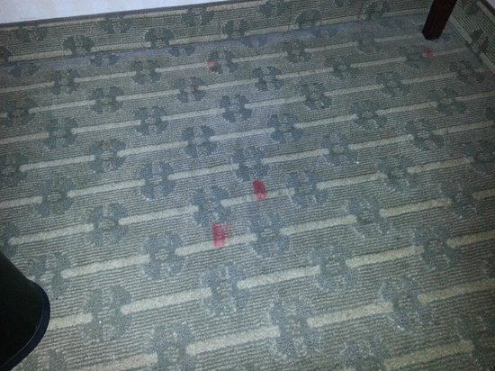 Wyndham Cleveland at Playhouse Square: Stained carpet