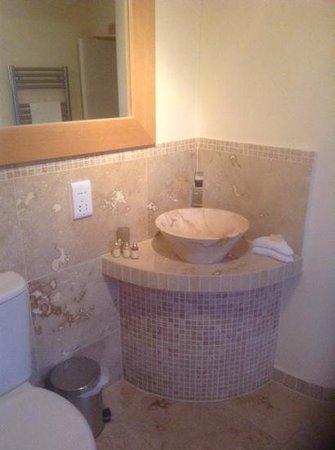 The Holcombe Inn: old England bathroom