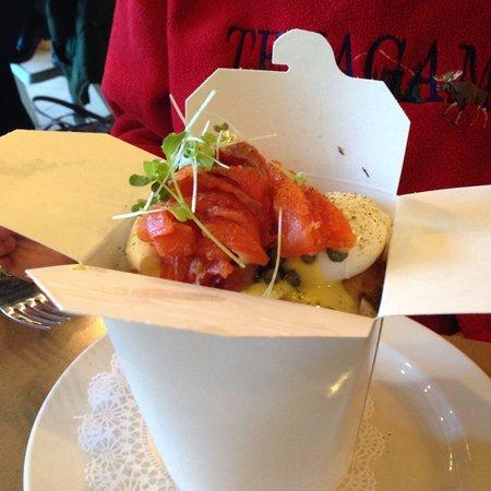 OEB Breakfast Co.: Smoked salmon breakfast in a box