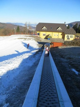 Moving ramp to the top of the hill. The best idea ever!
