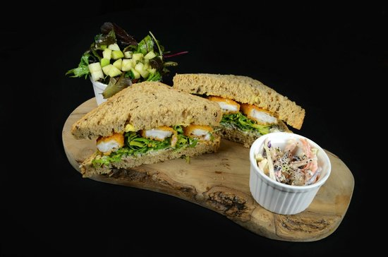 The Wig and Pen: Fish finger sandwich with rocket & tartare sauce