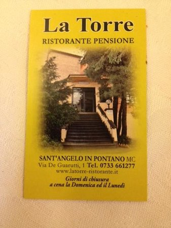 Ristorante La Torre: визитка