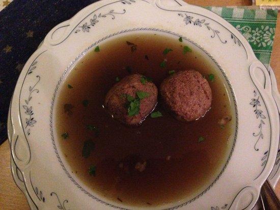 Ennstaler Stubn: Delicious Austrian soup with liver dumplings