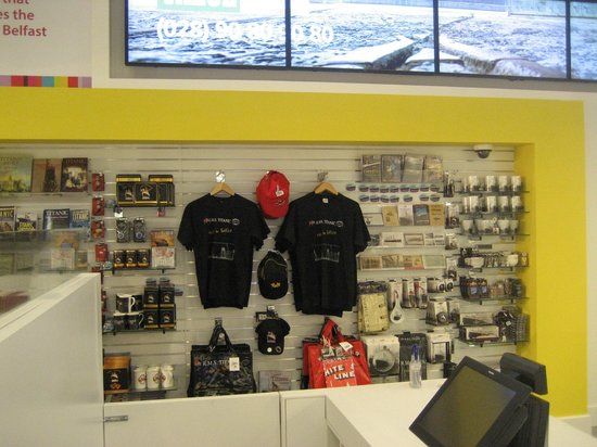 Visit Belfast Welcome Centre: Titanic gifts