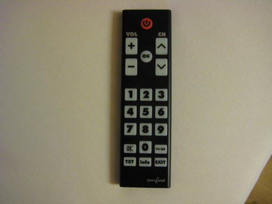 Hotel Dolomiten: telecomando con tasti giganti