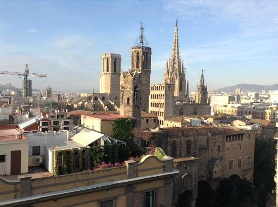 H10 Montcada Boutique Hotel: One of the views from the Roof Terrace