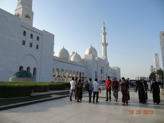 Sheikh Zayed Mosque: Parte externa da mesquita