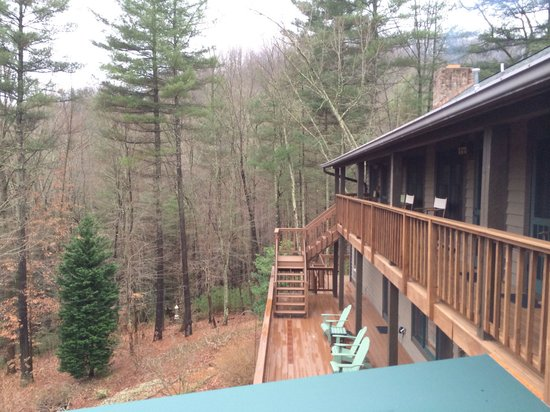 Bent Creek Lodge: View from the Wild Flower Room balcony