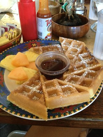 Sunrise Cafe: I had the Waffles and a side of sausage!