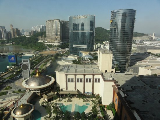 Conrad Macao Cotai Central: View from our 21st floor king suite