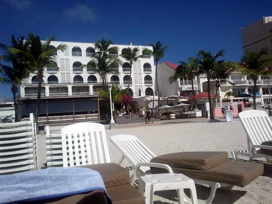 Holland House Beach Hotel : A view from the chair on the beach