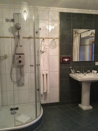 Hotel Herrnschlösschen: Love the Shower! Especially after a long walk in cold day.