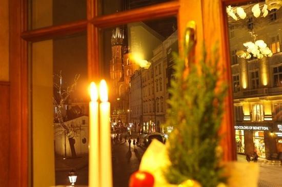 Wierzynek Restaurant: view from my table
