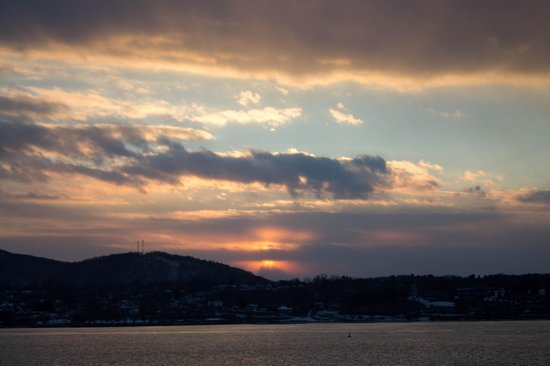 The Rhinecliff: Sunset from our room