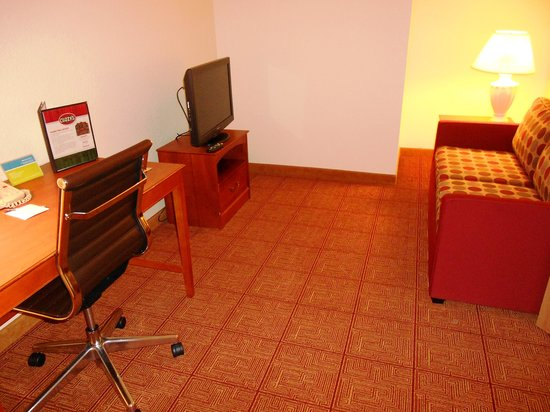 TownePlace Suites Minneapolis Downtown/North Loop: Room 433- Office with Hide-a-Bed Couch