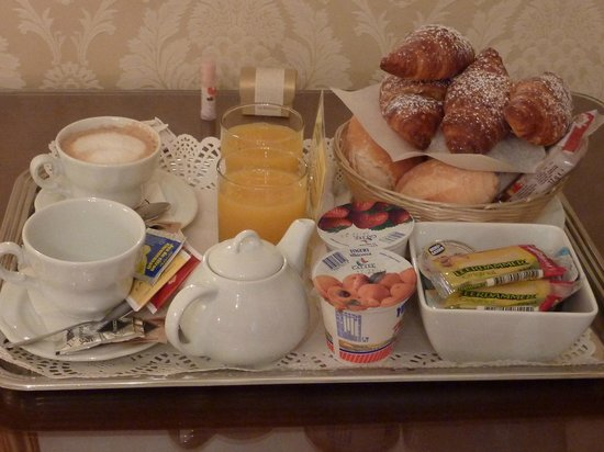 Ca' Bonvicini : The continental breakfast served in-room