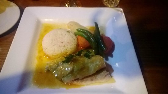 Fond Doux Plantation & Resort : red snapper at Jardin Cacao