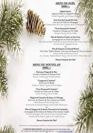 L'Assiette: Christmas is Coming Soon... Come to Share and Enjoy this Beautiful Evening with Us !! It's Time